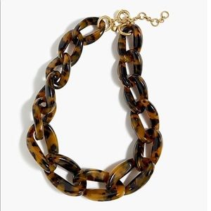 J. Crew Tortoise Shell Lucite Necklace